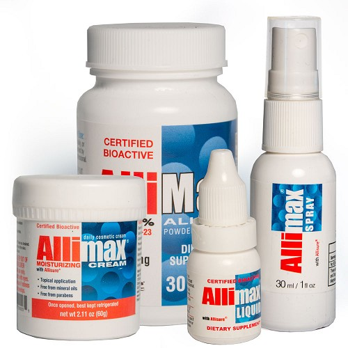 Allimax Bundle - 30 ct. Capsules, Liquid, Cream and Rescue Spray